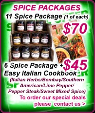 Order our Spice packages
